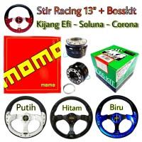 Setir Racing Mobil Kijang Efi Soluna Corona Stir Momo dengan Bosskit