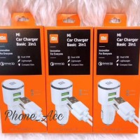 Charger Mobil Xiaomi 2 USB Mi Car Charger Saver Mobil 2 in 1