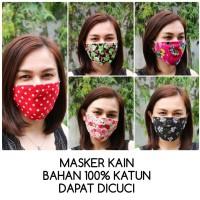 ready stock masker kain katun bisa dicuci pengait karet mask