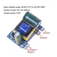 Module converter AC-DC 12V 300mA 3.5W Isolated switch power supply