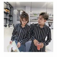 KEMEJA COUPLE IMPORT KOREA ORIGINAL SIZE S-XXL/2XL FS11