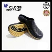 SEPATU SANDAL PRIA AP CLOGS BOOTS SENDAL KARET SLOP 39~42 ORI MURAH