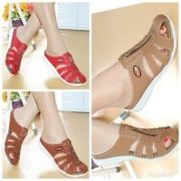 Sepatu Wanita Casual Bakpau Mulan 1690 Tan