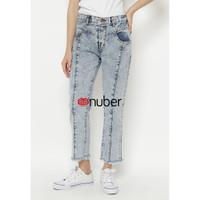 Celana Panjang Jeans Wanita Boyfriend Snow Grey Rumbay-Jasmine