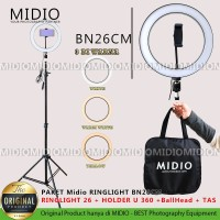Ring Light BN26 Plus Stand2M Midio Untuk Live Streaming Vlogger