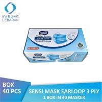 [BOX] Sensi Mask Earloop 3 Ply | Masker Sensi Debu Wajah (Isi 40 Pcs)
