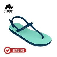 Fipper Strappy / Sandal Jepit Tali Wanita /Green Schits - Blue Snorkel