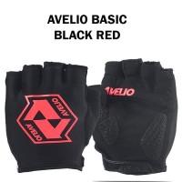 Avelio Basic Sarung Tangan Half Finger Blk Red