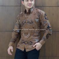 tumurun Coklat kemeja furing batik solo pria lengan panjang