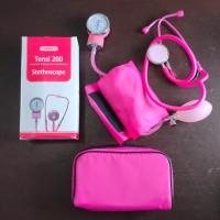 Tensimeter plus Stetoskop Onemed pink