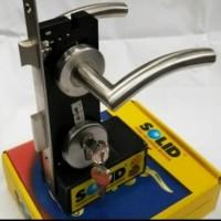 Paket Handle Solid Hre 6144 / kunci pintu stainless solid (KOMPLIT)