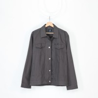 Hommes Apparel Jaket Semi Parka Kanvas Dark Grey Premium Quality - M