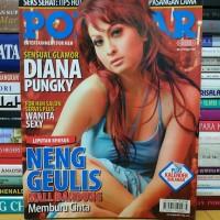 Majalah popular cover diana pungky masih lengkap poster dan kalender