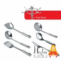 HOME PRO 7 Pcs Kitchen Tool Sodet Centong Irus Kipas Set + Rak