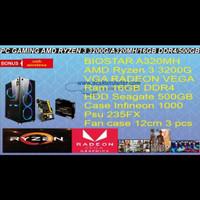 KOMPUTER GAMING AMD RYZEN3 3200 RAM DDR4 16 GB VGA RADEON VEGA 8