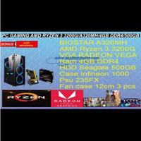 KOMPUTER GAMING AMD RYZEN3 3200 RAM DDR4 4 GB VGA RAEDON VEGA 8