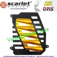 cover radiator nmax aerox scarlet two tone kualitas bahan full cnc