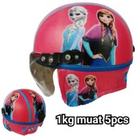 DMS Helm anak frozen (model retro) tersedia helm BOGO CENTRO INK KYT