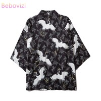 2020 Ins Fashion Swan Kimono Outer for Women Men Loose Harajuku Beach