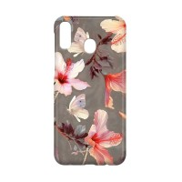 Hard Case Floral Flower F0 Coral Hibiscus For Samsung Galaxy M30