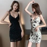 Dress Mini Wanita Sexy Model Slim Bodycon Versi Korea untuk Pesta Clu