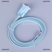 Kabel Adapter Converter RS232 Serial to RJ45 CAT5 RS232 Warna Biru
