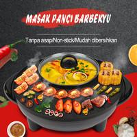 Panci Hotpot Shabu 2in1 Electric BBQ Listrik Pot Steam Elektrik Grill