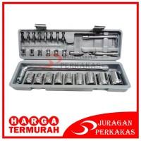 Tool Kit 27 in 1 Kunci Sock / Pas / SHOCK / Sok Obeng Alat Bengkel Set