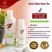SR12 Facial Wash Green Tea 250ML / Sabun Kulit Berminyak - 100ml
