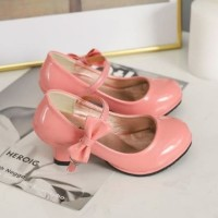 Sepatu Pesta Anak Perempuan / Heels Pita Anak Cewek Import Mary Jane