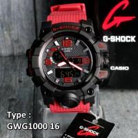 G Shock GWG-1000 Mudmaster Merah Army Jam tangan pria water resist