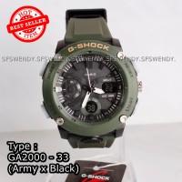 TERMURAH !! G Shock GA-2000 hijau Army Jam tangan pria & anak anti air