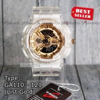 G Shock TERBARU !!! GA-110 Transparan Gold Jam tangan pria anti air