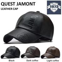 Baseball cap leather : QUEST - Topi baseball Topi kulit Topi winter
