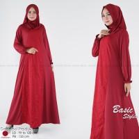 Basic Styles - Gamis Wanita Jersey Brukat RAYTA HIJAB + Free Pashmina