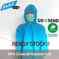 APD Hazmat Suit Coverall Bahan Spundbond 100gsm AllSize - Ready Stock