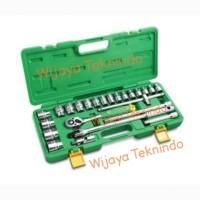 """Kunci Sock Set 1/2"""" inch Dr 8-32 mm 6/12 PT 24 Pcs (Plastik) TEKIRO"""