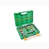 """Kunci Sock Set 1/2"""" inch Dr 10-32 mm 6/12 PT 22 Pcs (Plastik) TEKIRO"""