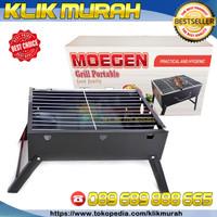 Moegen PORTABLE GRILL Pan/ multi gril pan lipat / alat pemanggang