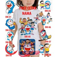 Kaos Baju tshirt anak Custom Doraemon