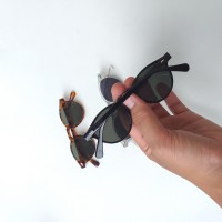 Clear, Black and Tortoise Sunglasses