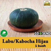 Sayur organik premium - Labu / Kabocha Hijau per pcs