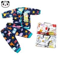 Velvet Junior Setelan Panjang Kancing Depan Baju Piyama Bayi