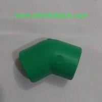 PP-R Elbow Knie 45 Derajat 50 mm x 1 1/2 inch Rucika Depok Jakarta