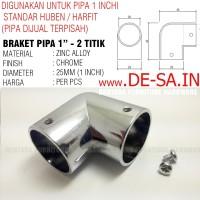 Braket Konektor 2 Titik - Untuk Pipa Bulat1 Inchi