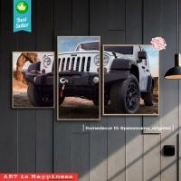 1 set jeep | hiasan | pajangan dinding | poster | kayu | Decor | wall