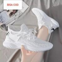 Sepatu Putih Cewek Murah / Sneaker Olahraga Putih Import untuk Wanita