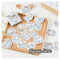 45 pcs Sticker Cute Bowl Cat Scrapbook DIY Bujo Planner Diary Journal