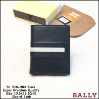 dompet pria bally 038-083 black import premium quality dompet murah