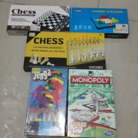 SALE Aneka Board Games Catur Jenga Monopoly Checker